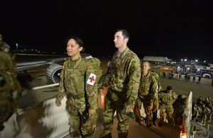 UK personnel, Ebola