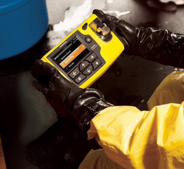 HazMatID Elite is a hand-held solid and liquid chemical identifier developed by Smiths Detection.