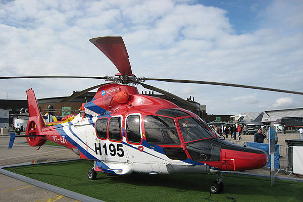 Eurocopter EC155 B1 helicopter on display at Paris Air Show 2007. Image courtesy of Mirgolth.