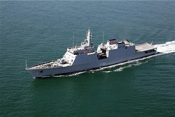 The Indian Navy commissioned the first NOPV in the Saryu class, INS Saryu, in January 2013. Image courtesy of Goa Shipyard Ltd.