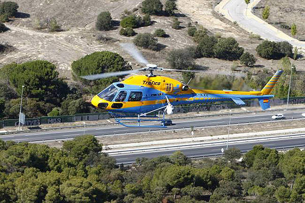 The AS355 NP Ecureuil is a twin-engine multi-mission helicopter. Image courtesy of L.Vizcaíno.