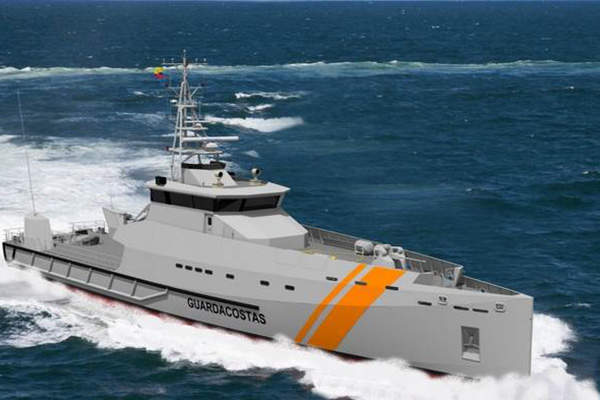 The Stan Patrol 5009 patrol boat is built by Damen Shipyards. Image courtesy of Damen Shipyards Group.