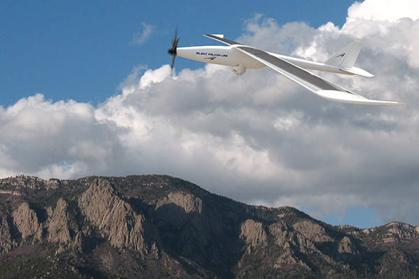 The Silent Falcon small unmanned aircraft system can fly at a maximum speed of 112km/h.