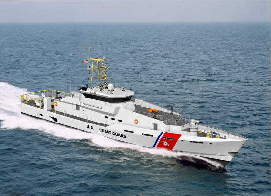 Artist's impression of the Sentinel Class Fast Response Cutter (FRC) of the US Coast Guard (USCG). Image courtesy of the US Coast Guard.