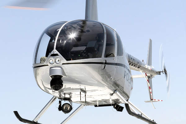 The R66 Turbine Police Helicopter is manufactured by Robinson Helicopter Company.