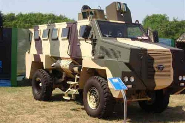 The TATA Mine Protected Vehicle (MPV) carries up to 14 personnel. Image courtesy of Israel Aerospace Industries Ltd.