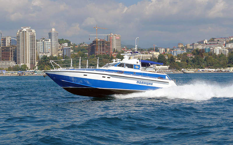 The Project 12260 high-speed patrol boats are designed by Almaz Central Marine Design Bureau. Image courtesy of OJSC 'Yaroslavsky shipbuilding plant'.