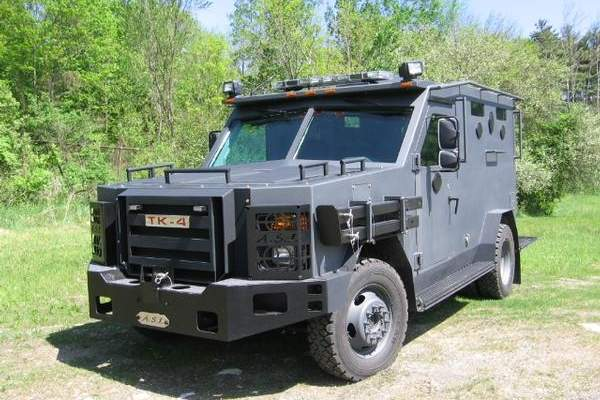 The TK-4 tactical armoured vehicles are used for law enforcement and homeland security missions.