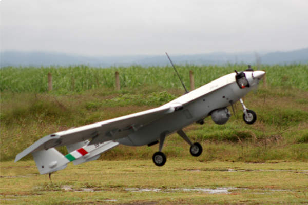 The S4 Ehécatl unmanned aerial vehicle (UAV) is produced by Hydra Technologies of Mexico. Image courtesy of Hydra Technologies of Mexico S.A. de C.V.