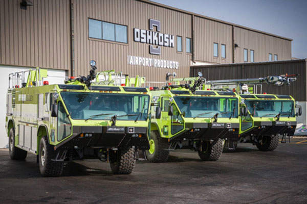 The Striker Aircraft Rescue and Fire Fighting (ARFF) vehicle is manufactured by Oshkosh Airport Products. Image: courtesy of Oshkosh Corporation.