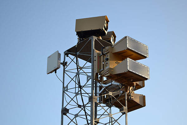 The B400 series e-scan radars are manufactured by Blighter Surveillance Systems.