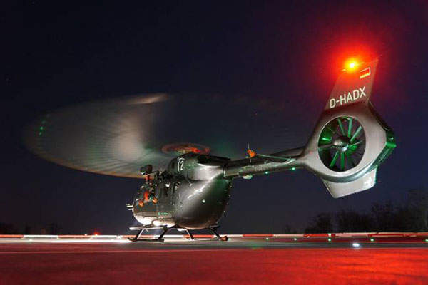 The EC145 T2 lightweight, multi-role helicopter is powered by two Turbomeca Arriel 2E engines. Photo: courtesy of Airbus Helicopters.