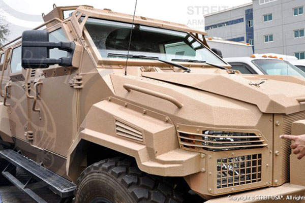 Cyclone Armoured Personnel Carrier (APC) was unveiled in December 2013. Image courtesy of STREIT Group.