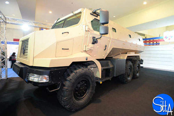 The 6x6 Higuard MRAP vehicle is manufactured by Renault Trucks Defense. Image: courtesy of Ministère de la Défense.