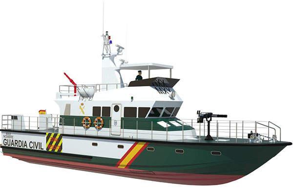 Computer-generated image of the 20m patrol boat designed by Astilleros Gondan Shipyard. Image: courtesy of Astilleros Gondán S.A.