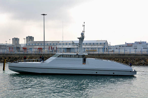 The Interceptor HSI 32 vessel is being built by French shipyard CMN. Image: courtesy of CMN.