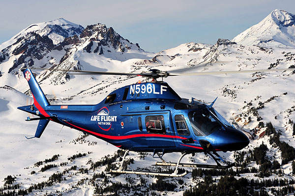 The AW119Kx light, single-engine helicopter features cocoon-type airframe.