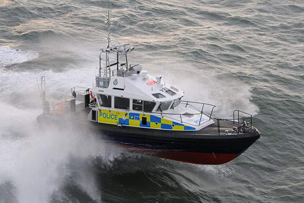 The 15m Patrol Boat is designed for the Ministry of Defence (MOD) Police, UK. Image: courtesy of Holyhead Marine Services Ltd.