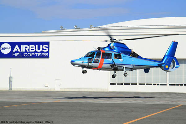 The AS365 N3+ Dauphin twin-engine helicopter is manufactured by Airbus Helicopters. Image: courtesy of Airbus Helicopters Japan, Chikako HIRANO.