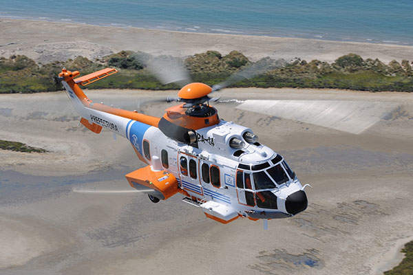 The Argentine Coast Guard received a H225 twin-engine helicopter in September 2015. Image: courtesy of Anthony Pecchi.