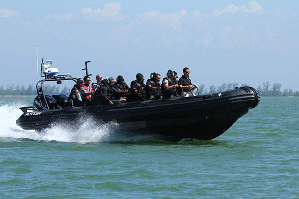 The ASIS 9.5m rigid inflatable boats are in service with the Royal Brunei Police Force. Image courtesy of Asis Boats.