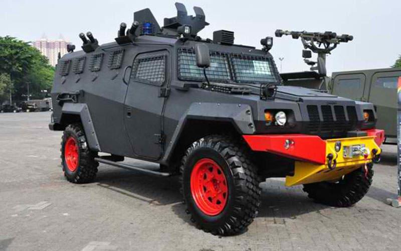 The Komodo 4x4 tactical vehicle was developed by PT Pindad. Image: courtesy of Badan Usaha Milik Negara / Enterprises Indonesia.