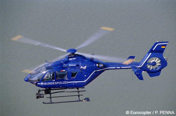 A Eurocopter EC135 operated by the German Federal Police Aviation. Image courtesy of ©Eurocopter, Anthony Pecchi.