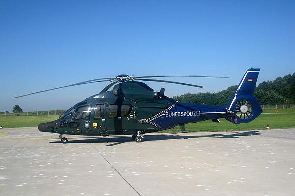 An EC155 helicopter of the German Federal Police. Image courtesy of Wo st 01.