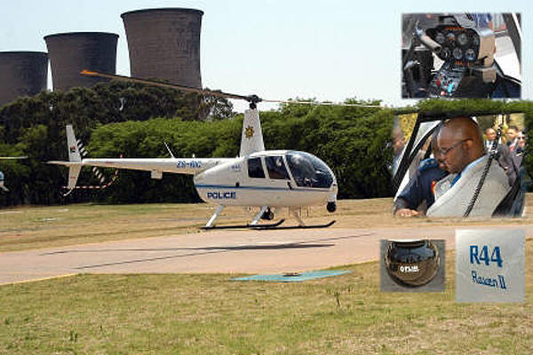 A Robinson R44 Raven II Police Helicopter operated by the South African Police Service. Image courtesy of South African Air Force.