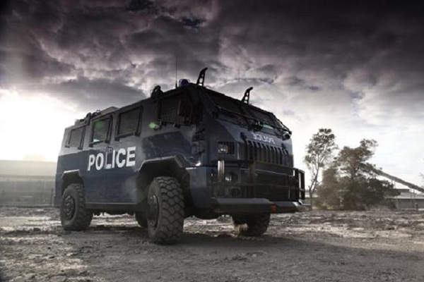 Maverick's Internal Security Vehicle (ISV) accommodates a driver, commander and up to 12 riot or paramilitary police.