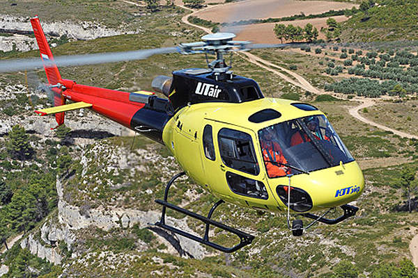 The AS350 B3e is equipped with a powerful Turbomeca Arriel 2D engine. Image courtesy of Eurocopter, Anthony Pecchi.
