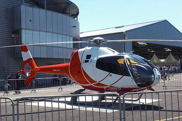 A Eurocopter EC120 B helicopter used by the French EAALAT army aviation school is stationed at Dax-Seyresse airport. Image courtesy of Daxipedia.