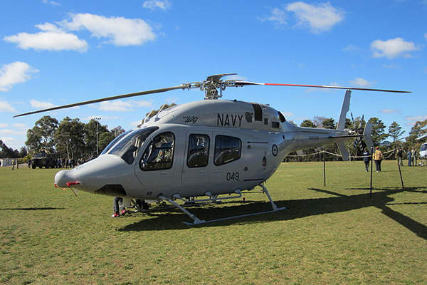 The Royal Australian Navy operates three Bell 429 helicopters. Image courtesy of Nick-D.