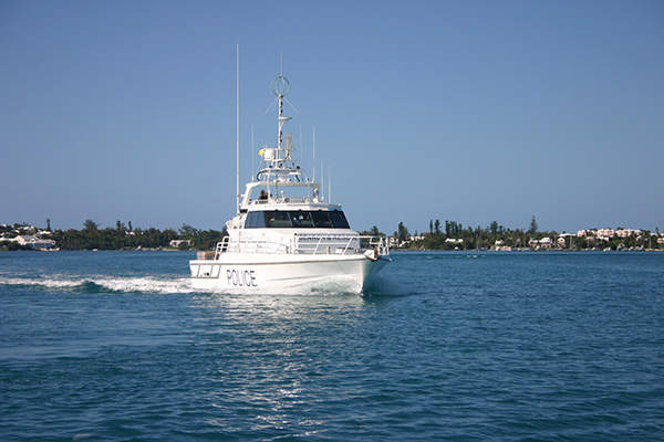 The 16m patrol boat is designed and constructed by Austal. Image courtesy of Bermuda Water Police Service.