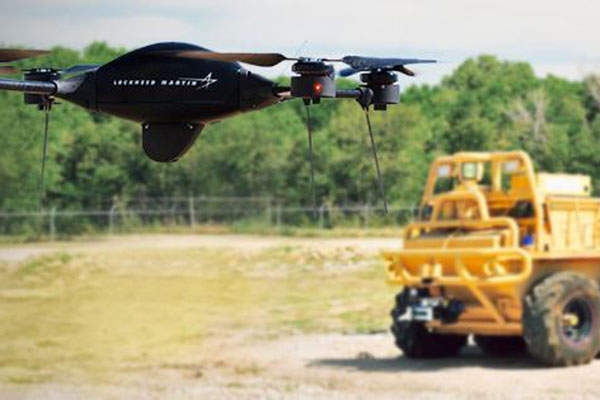 The Indago quad rotor UAS was demonstrated at AUVSI 2014. Image courtesy of Lockheed Martin Corporation.