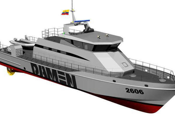The Stan Patrol 2606 vessel can sail at a maximum speed of 35kts. Image courtesy of Damen Shipyards Group.