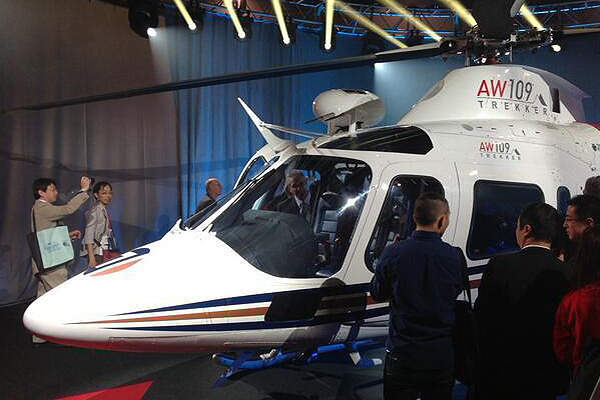 AW109Trekker is a new twin-engine helicopter launched by AgustaWestland. Image courtesy of AgustaWestland.