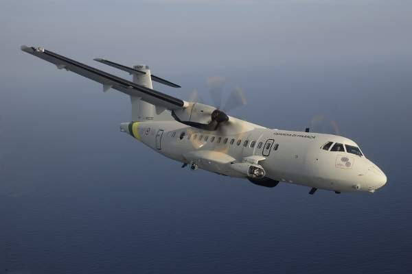 The ATR 42 MP Surveyor aircraft of the Italian Customs Police (Italian Guardia di Finanza).