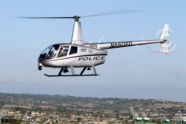 The R66 Turbine Police Helicopter is intended for use by law enforcement agencies.