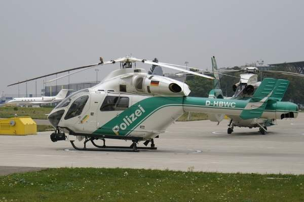 Baden-Württemberg Police's MD 902 helicopter stationed at Stuttgart airport. Image courtesy of Juergen Lehle.
