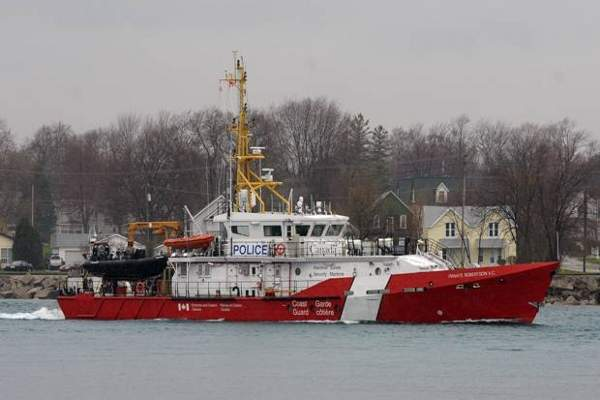 The CCGS Private Robertson V.C. vessel was delivered to the Canadian Coast Guard in July 2012.