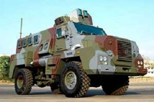 The TATA Mine Protected Vehicle (MPV) is operated by Maharashtra State Police and Jharkhand Police. Image courtesy of Israel Aerospace Industries Ltd.