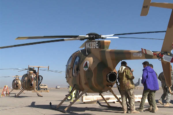 The military version of MD 530F in operation with the Afghan Air Force.