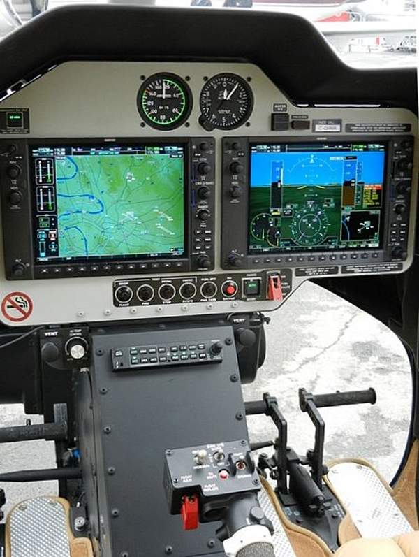 The Bell 407GX is equipped with Garmin G1000H avionics system. Image: courtesy of Waerfelu.