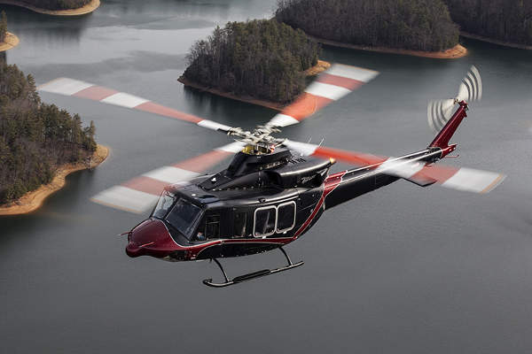 The Bell 412EPI helicopter features a semi-monocoque tailboom. Image: courtesy of Bell Helicopter Textron Inc.