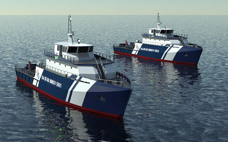 Two 50m vessels are being built by Josefa Slipways shipyard. Image courtesy of Incat Crowther Pty Ltd.