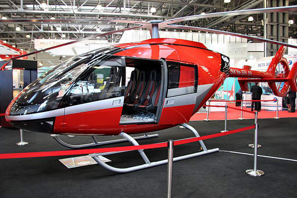 The SKYe SH09 helicopter was unveiled at the Heli Expo 2011. Image: courtesy of Vitaly Kuzmin.