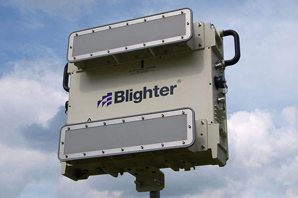The Blighter B400 radar can detect small and slow moving objects.