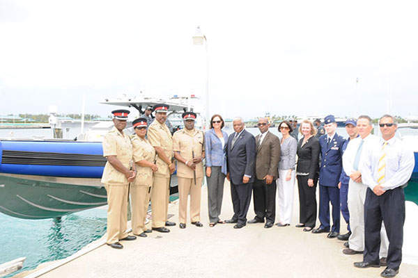 An Apostle marine interceptor was handed over to the Royal Bahamas Police Force in March 2013. Image: courtesy of Royal Bahamas Police Force.