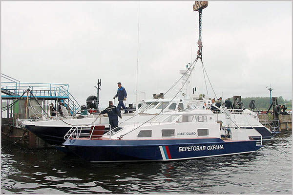 The Chibis border guard boat has an overall length of 9.95m. Image: courtesy of Vympel Shipyard JSC.